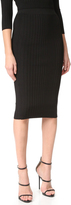 Cushnie et Ochs Crisscross Waistband Pencil Skirt