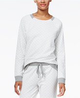 Alfani Quilted-Style Pajama Top, Created for Macy's