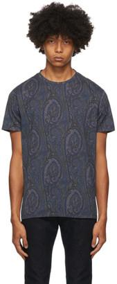Etro Navy Paisley T-Shirt