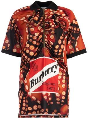 Burberry Octupus Print Polo Shirt