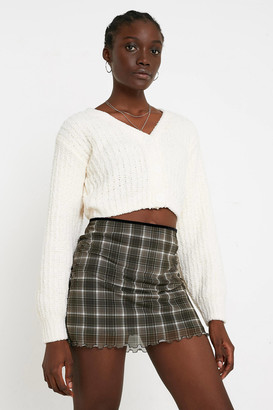 Urban Outfitters Plush Cropped Cardigan