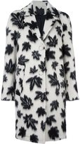 Alexander Wang leaf motif car coat - women - Polyester/Viscose/Alpaca/Virgin Wool - 10