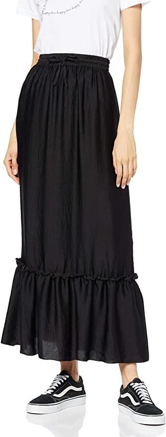 Brand Womens Peplum Maxi Skirt find
