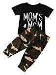 Fheaven Newborn Baby Boy Tops Mom's MCM Printed T shirt Tops + Camouflage Pants Outfits Clothes Set (6M)