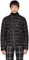 Moncler Black Down Aubin Biker Jacket