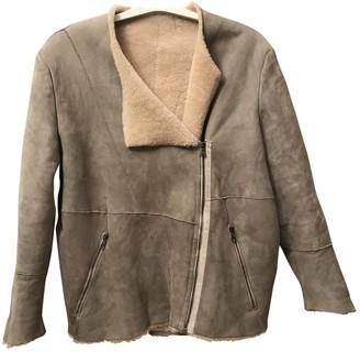 Acne Studios Grey Shearling Jacket for Women