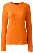 Lands' End Women's Petite Cashmere Tee Sweater-Black