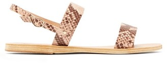 Ancient Greek Sandals Clio Snake-effect Leather Sandals - Womens - Pink Multi