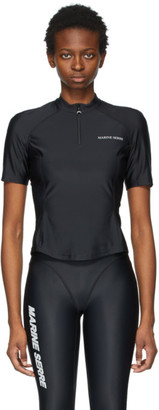 Marine Serre Black Optic Moon Sea-Skin Training T-Shirt
