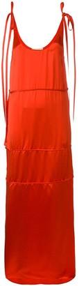 Ports 1961 Tie Strap Maxi Shift Dress