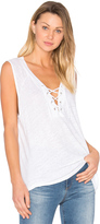 Monrow Lace Up Tank