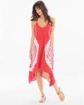 Soma Intimates Scarf Hem Coverup Dress Red