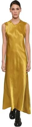 Ann Demeulemeester Long Asymmetric Satin Dress