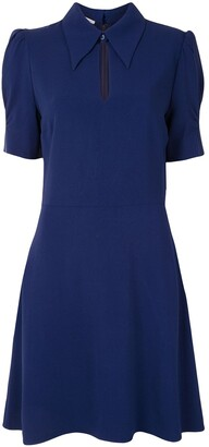 Stella McCartney Pointed-Collar Keyhole Dress