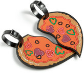 Betsey Johnson Heart-Shaped Pizza Luggage Tag Set