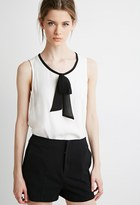 Forever 21 Contemporary Self-Tie Bow Top