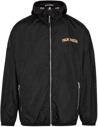 Palm Angels Black Logo-print Shell Jacket