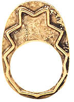 House Of Harlow Zig Zag Stacking Ring Gold