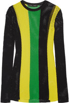Proenza Schouler Striped Open-knit Sweater - Yellow
