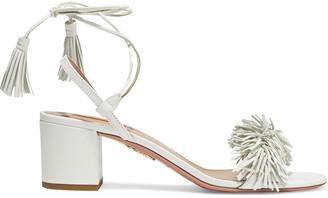 Aquazzura Wild Thing 50 Fringed Leather Sandals