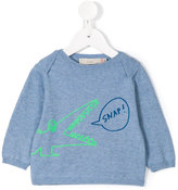 Stella McCartney crocodile print sweatshirt - kids - Cotton - 6 mth