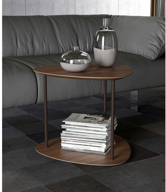 Modloft Finsbury Side Table in Walnut and Java
