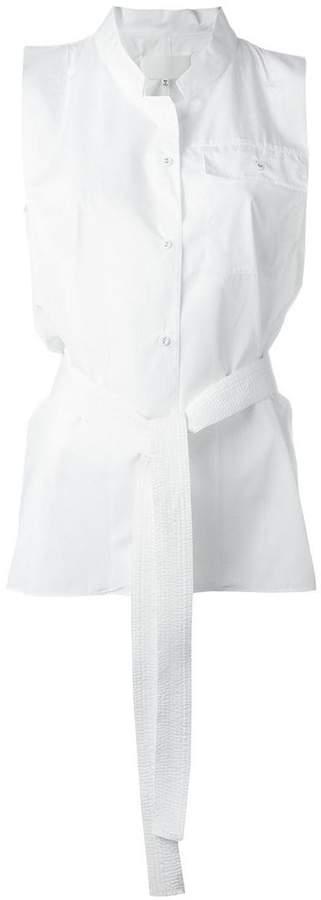 Maison Margiela belted sleeveless shirt