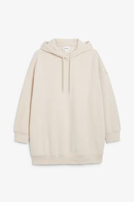 Monki Long drawstring hoodie