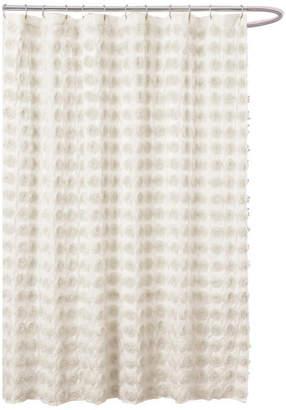 Lush Decor Emma Ivory Shower Curtain 72x72