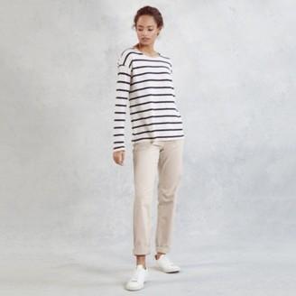 The White Company Brompton Boyfriend Jeans, Buttermilk, 12