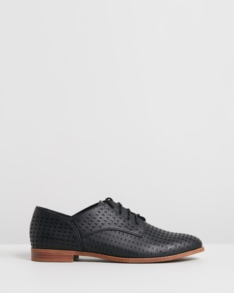 Spurr Women's Black Brogues & Loafers - Connie Flats - Size 5 at The Iconic
