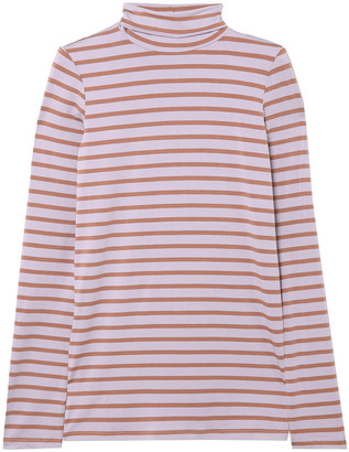 Hatch Striped Stretch-jersey Turtleneck Top
