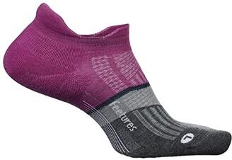 Feetures Merino 10 Ultra Light No Show Tab (Purple Addict) Women's Crew Cut Socks Shoes