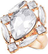 GUESS Gold-Tone Crystal Cluster Statement Ring