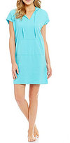 Lauren Ralph Lauren Solid Brushed Terry Hoodie Lounge Dress