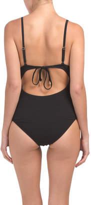 Scalloped Edge Underwire One-piece Swimsuit