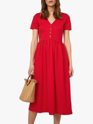 Warehouse V-Neck Pique Dress