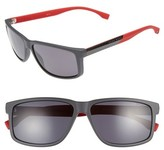 BOSS Men's 60Mm Polarized Sunglasses - Grey Carbon Red