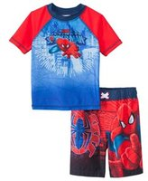 Marvel Boys' Spiderman Swim Trunks & Rashguard Set (2T4T) - 8147446
