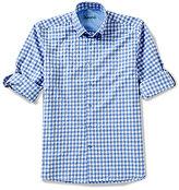 Visconti Diamond Gingham Long-Sleeve Woven Shirt