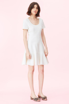 Rebecca Taylor Stretch Texture Scoop Neck Dress