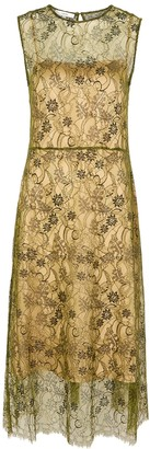 Vince Gold guipure lace midi dress