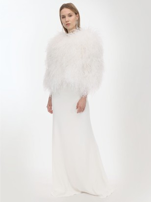 Simonetta Ravizza Lvr Exclusive Ostrich Feather Jacket