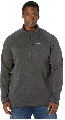 Columbia Big Tall Canyon Pointtm Sweater Fleece 1/2 Zip (Black) Men's Fleece