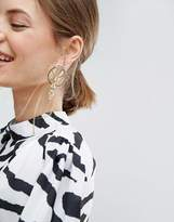 Asos Statement Interlinking Hoop Earrings