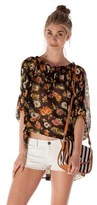 Lucca Couture Frances Floral Tie Top.