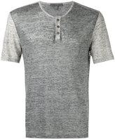 John Varvatos button-up T-shirt - men - Linen/Flax - M