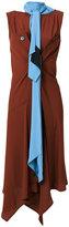 Marni scarf neck draped dress