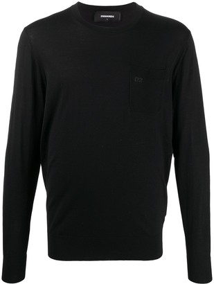 DSQUARED2 Fine-Knit Long-Sleeve Jumper