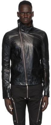 Rick Owens Black Leather Bauhaus Jacket